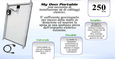 Mop il micro generatore fotovoltaico portatile verdecologia - Fotovoltaico portatile ...