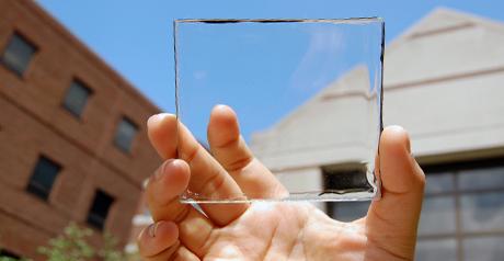 pannello solare trasparente