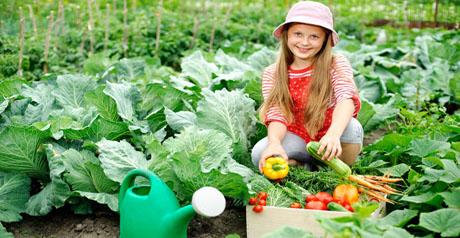 natural - coltivazione - agricoltura - bambina orto