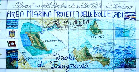 area marina progetta Isole Egadi
