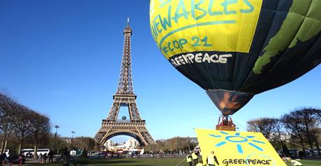 mongolfiera Greenpeace
